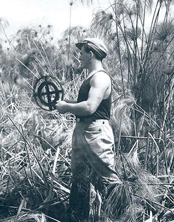 PLDC Surveyor on the swamp site (1935)