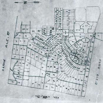 Development & Construction Plan of Herzliya, the 1920´s