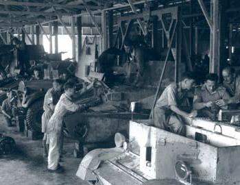 War effort - a workshorp at Sarafand (1941)