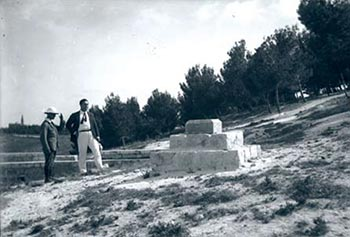 Cornerstone of the Hebrew University in Jerusalem (1918)